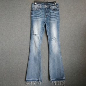 Vigoss The Jagger Flare Womens jeans Distressed